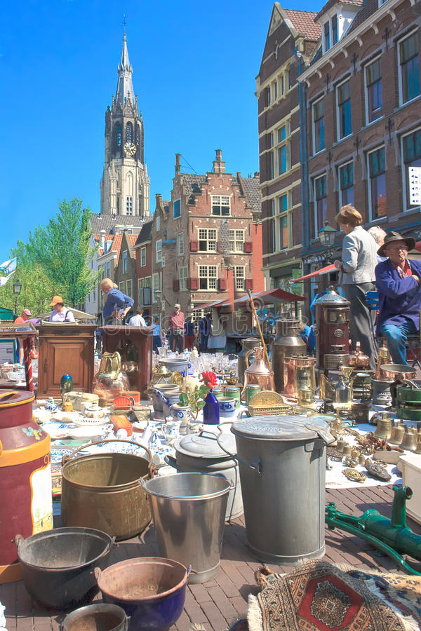 Download Flea Market editorial stock photo. Image of holland, delft - 19414233