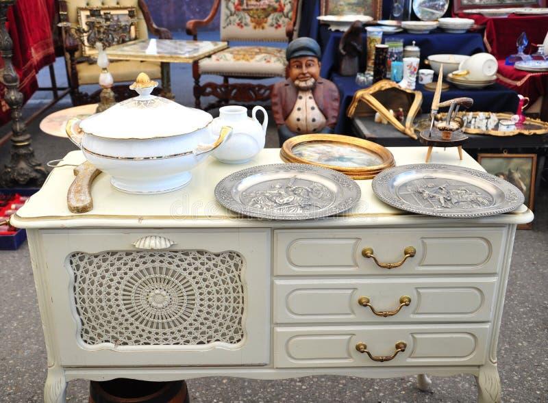 Flea market details royalty free stock images