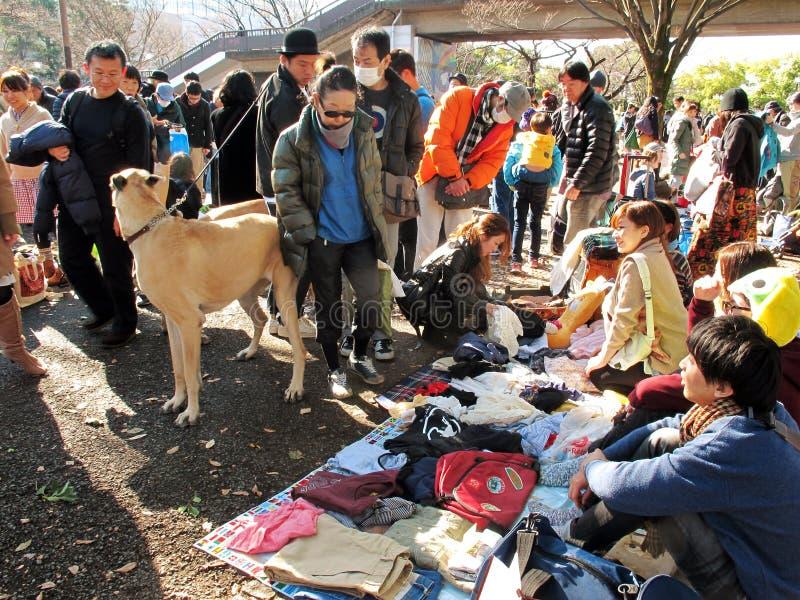 Flea Market In Harajuku Japan Editorial Image