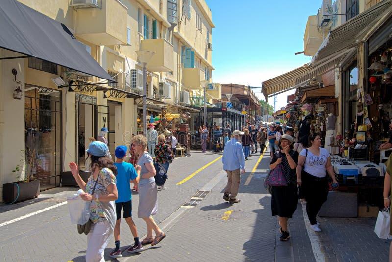 The Flea Market in Jaffa, Tel Aviv, Israel. stock photo