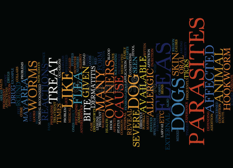 Fleas And Other Parasites Text Background Word Cloud Concept stock illustration