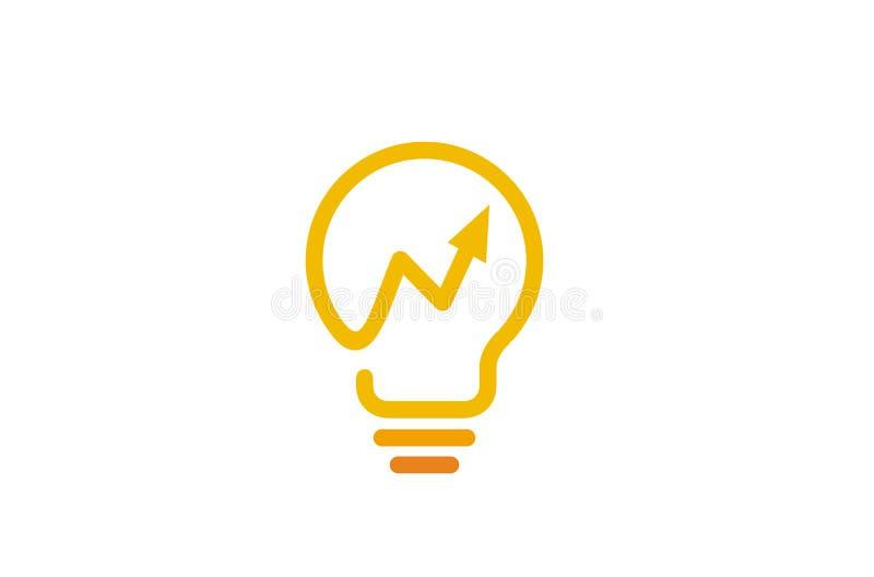 Flecha abstracta creativa Logo Design Vector Symbol Illustration del bulbo stock de ilustración