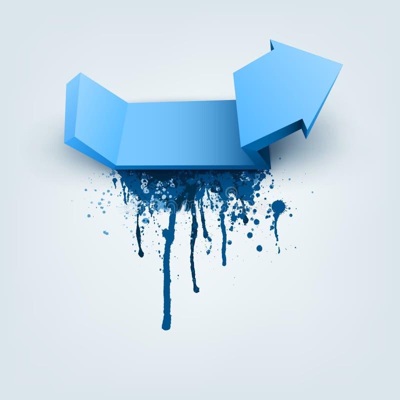Flecha Abstracta Del Vector Con El Lugar Para El Texto Ilustración ...