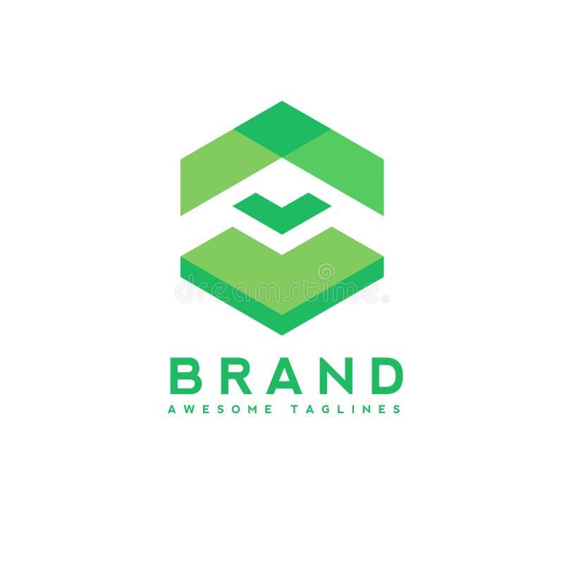 Flecha abstracta encima del logotipo del negocio, tecnología stock de ilustración