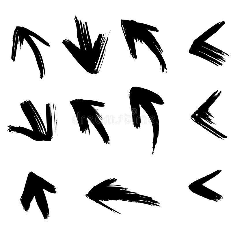 Flecha aplicada con brocha libre illustration