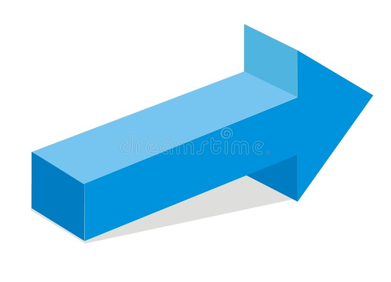 Flecha azul 3d stock de ilustración