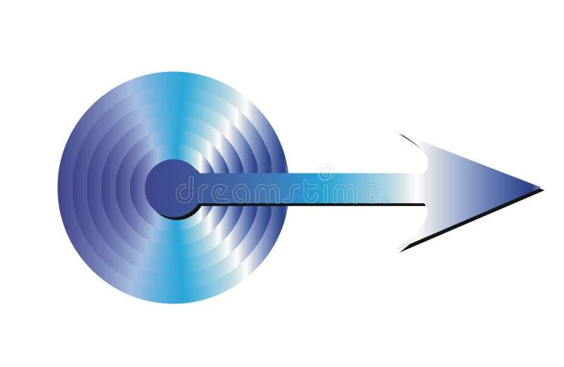 Flecha azul fotos de archivo