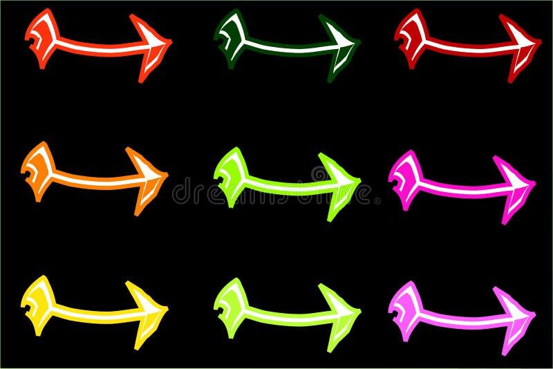 Flecha colorida stock de ilustración