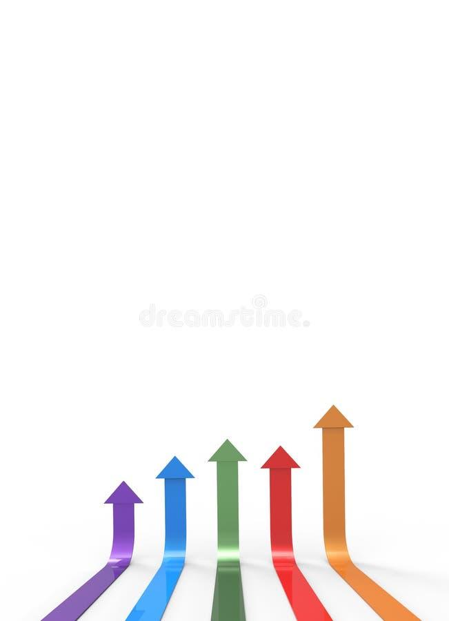 Flecha colorida Concepto cada vez mayor del asunto libre illustration