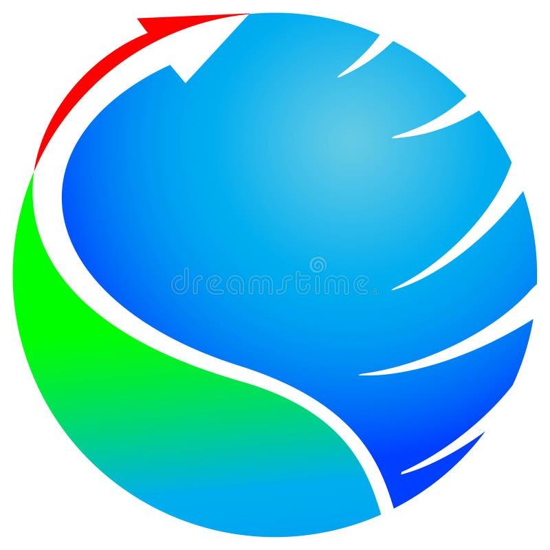 Flecha con el glob libre illustration