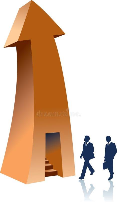 Flecha con stairway.jpg ilustración del vector