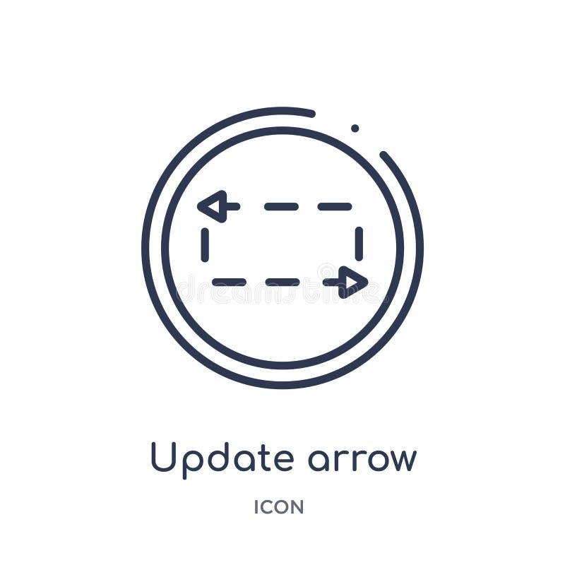 flecha de la actualización con el icono quebrado de la colección del esquema de la interfaz de usuario Línea fina flecha de la ac libre illustration