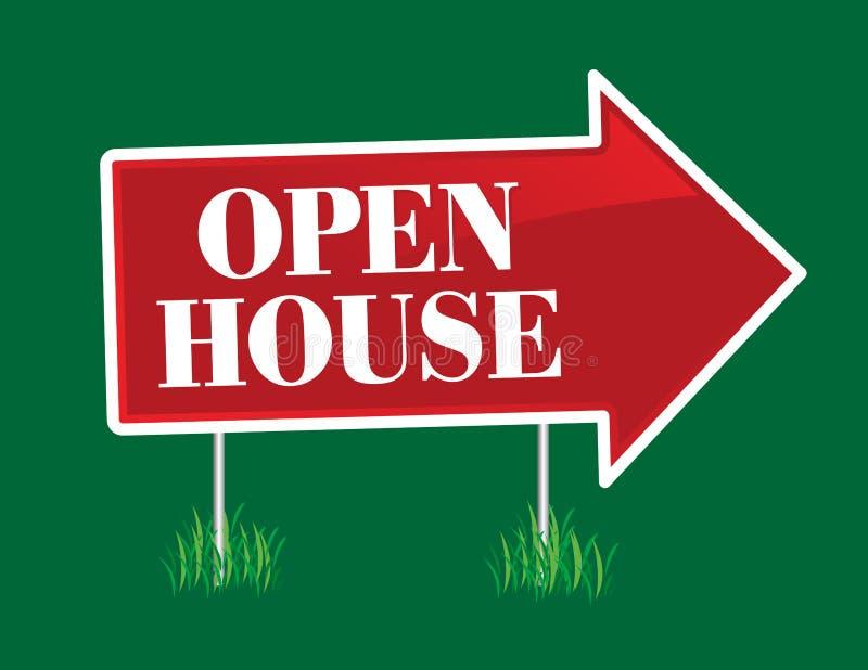 Flecha de la casa abierta libre illustration