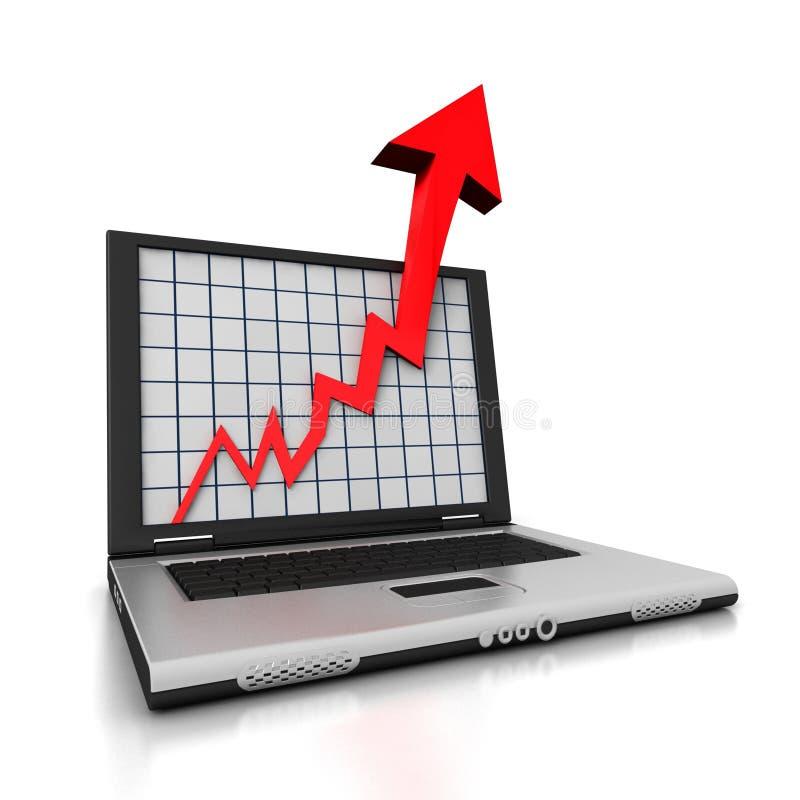 Flecha de la computadora portátil stock de ilustración
