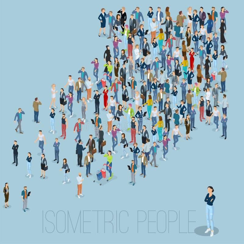 Flecha de la muchedumbre de la gente libre illustration