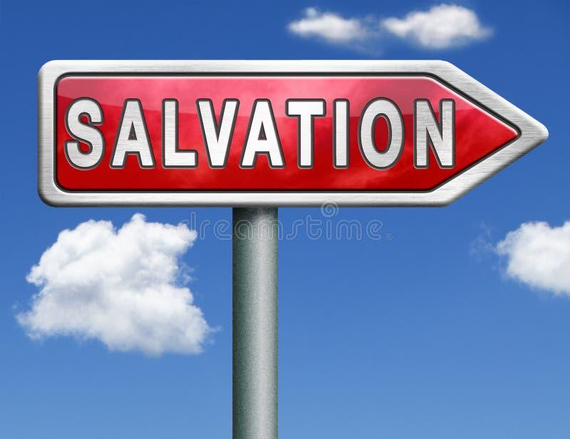 Flecha de la señal de tráfico de la salvación libre illustration