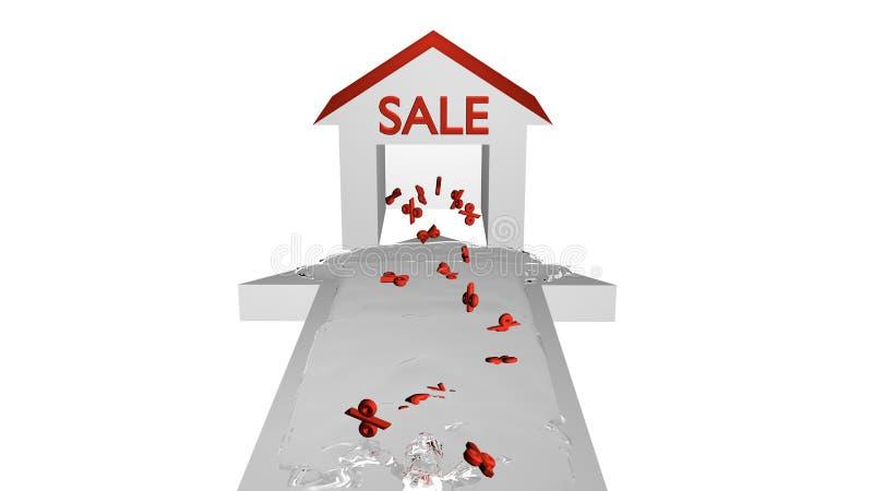 Flecha de la venta blanca ilustración del vector
