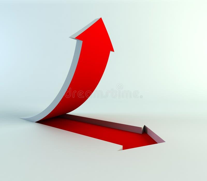 Flecha de levantamiento libre illustration
