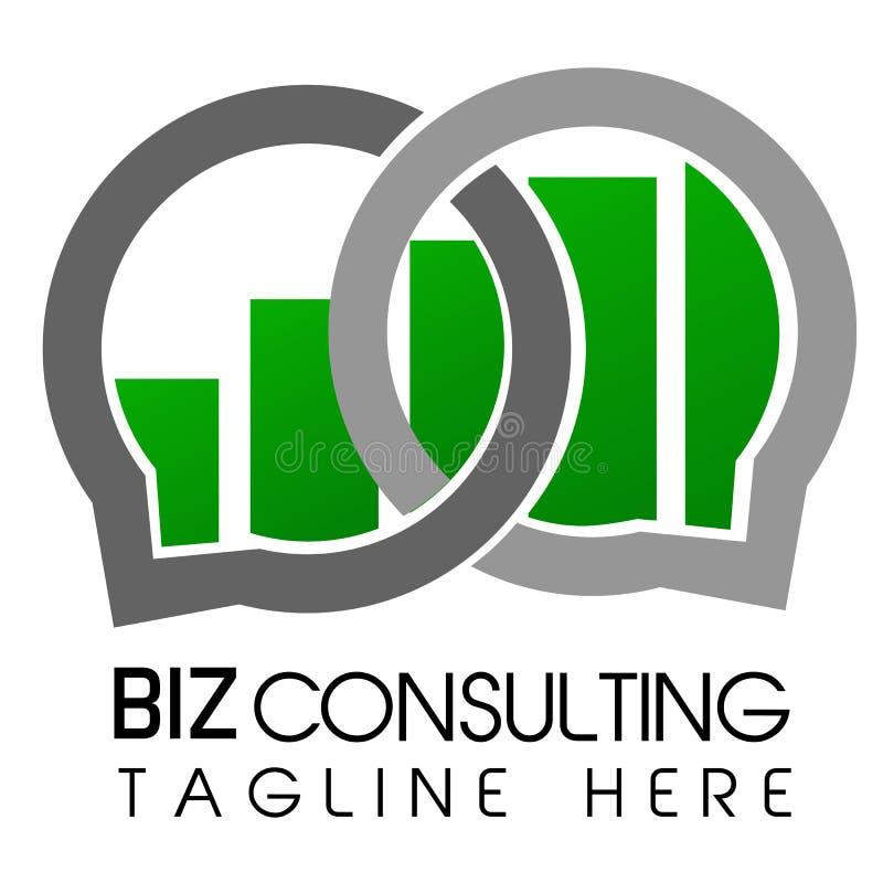 Flecha de Logo Simple Shinning Cirle y consulta azul de Logo Business de la barra stock de ilustración