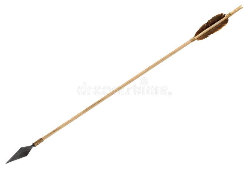 Flecha de madera vieja antigua imágenes de archivo libres de regalías