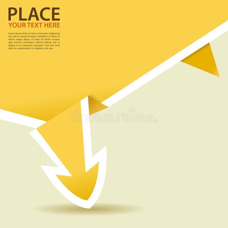 Flecha de papel de Origami stock de ilustración