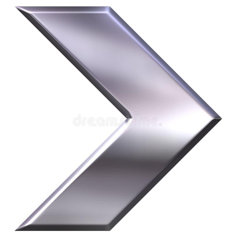 flecha de plata 3D stock de ilustración