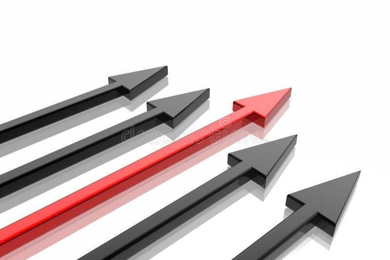 Flecha del éxito stock de ilustración