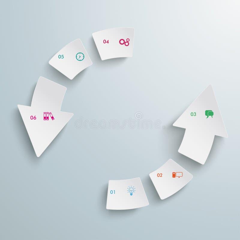 Flecha del éxito 6 pedazos del ciclo libre illustration
