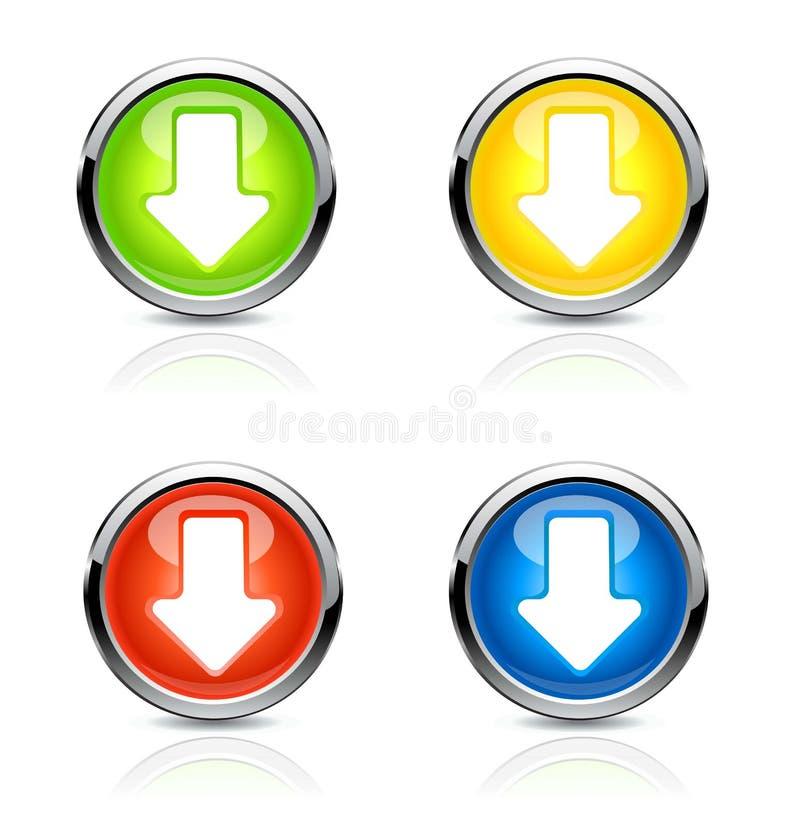 Flecha del botón Vector libre illustration