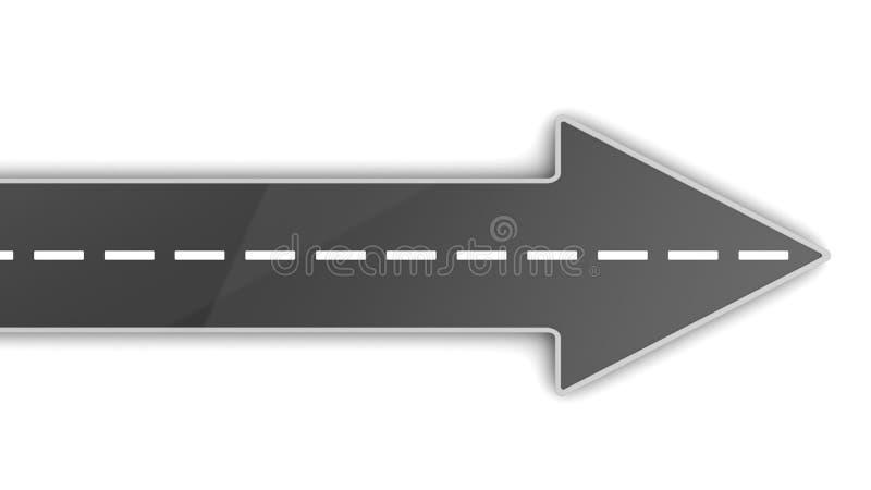 Flecha del camino ilustración del vector