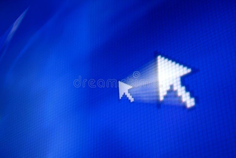 Flecha del cursor fotografía de archivo libre de regalías