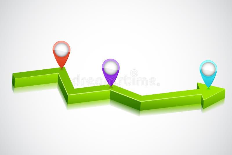 Flecha del negocio libre illustration