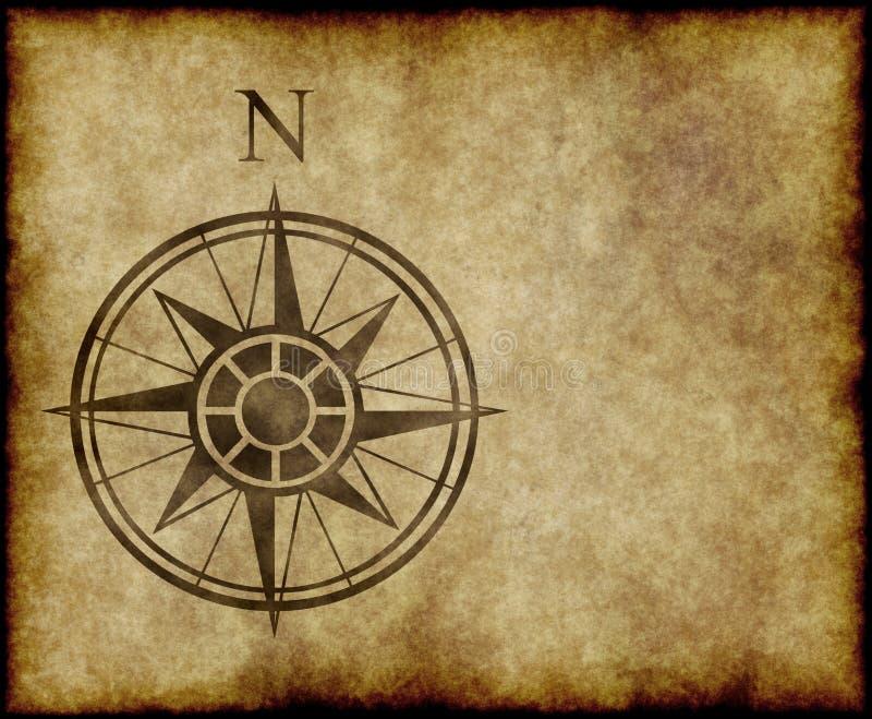Flecha del norte de la correspondencia de compás stock de ilustración