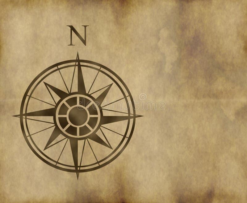 Flecha del norte de la correspondencia de compás ilustración del vector