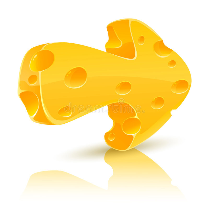 Flecha del queso amarillo libre illustration