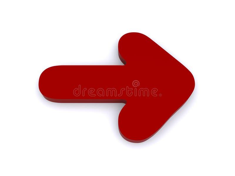 Flecha derecha stock de ilustración