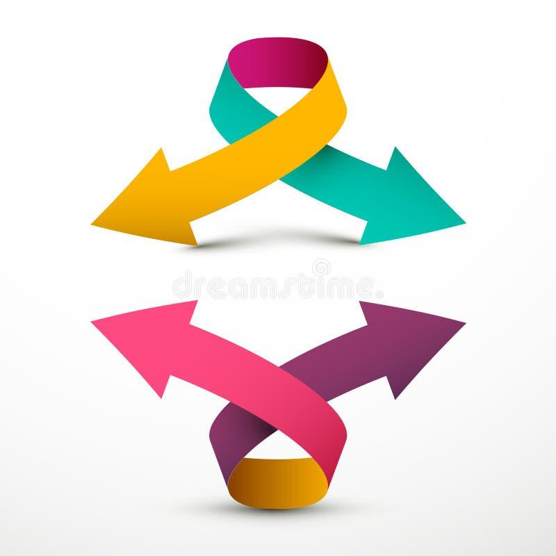 Flecha doble Logo Symbol Arriba y abajo de flechas del vector libre illustration