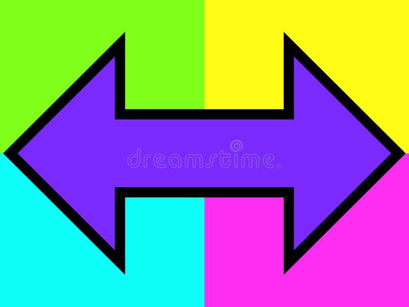 Download Flecha doble púrpura stock de ilustración. Ilustración de dirección - 178933