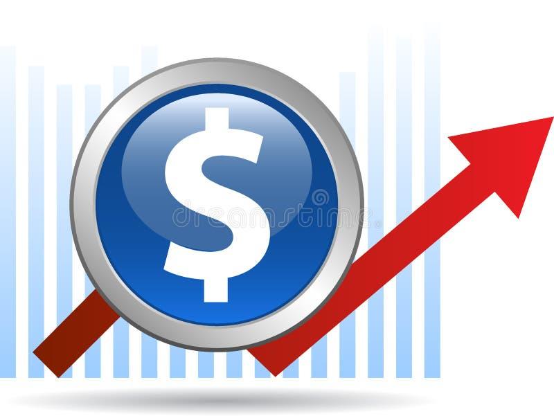 Flecha económica del gráfico stock de ilustración