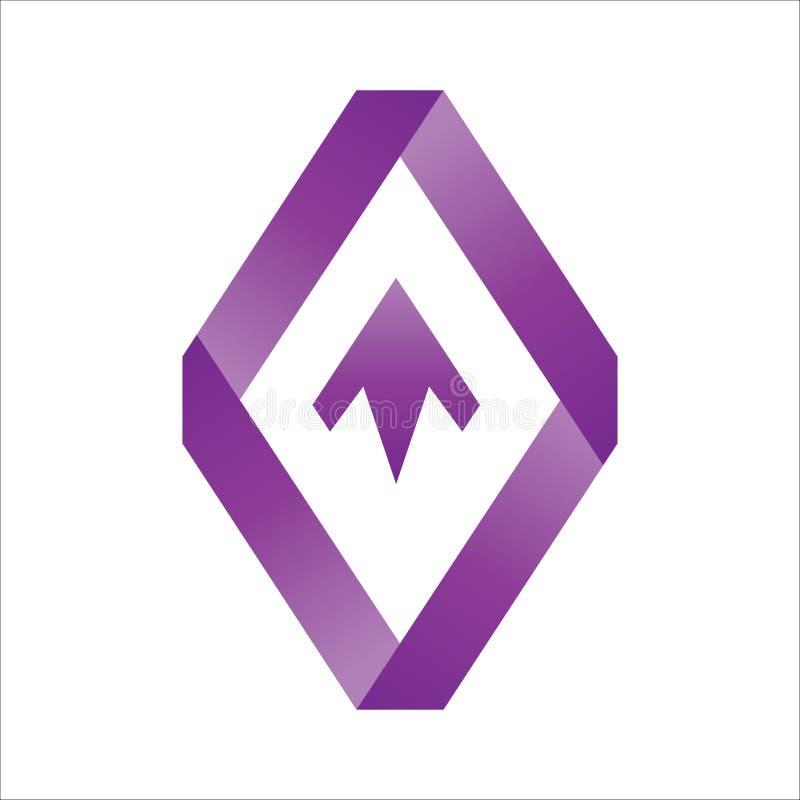 Flecha encima del vector del logotipo de la forma ilustración del vector