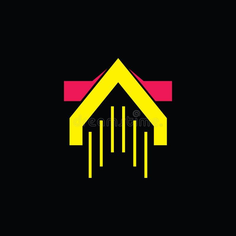 Flecha encima del vector potente del logotipo de la puñalada ilustración del vector