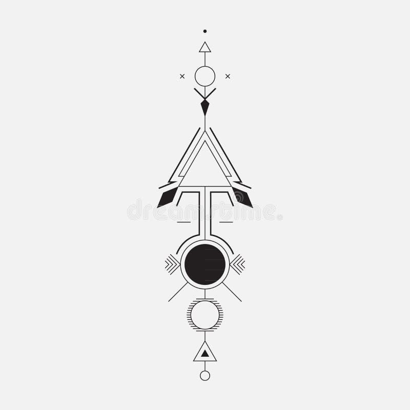Flecha geométrica stock de ilustración