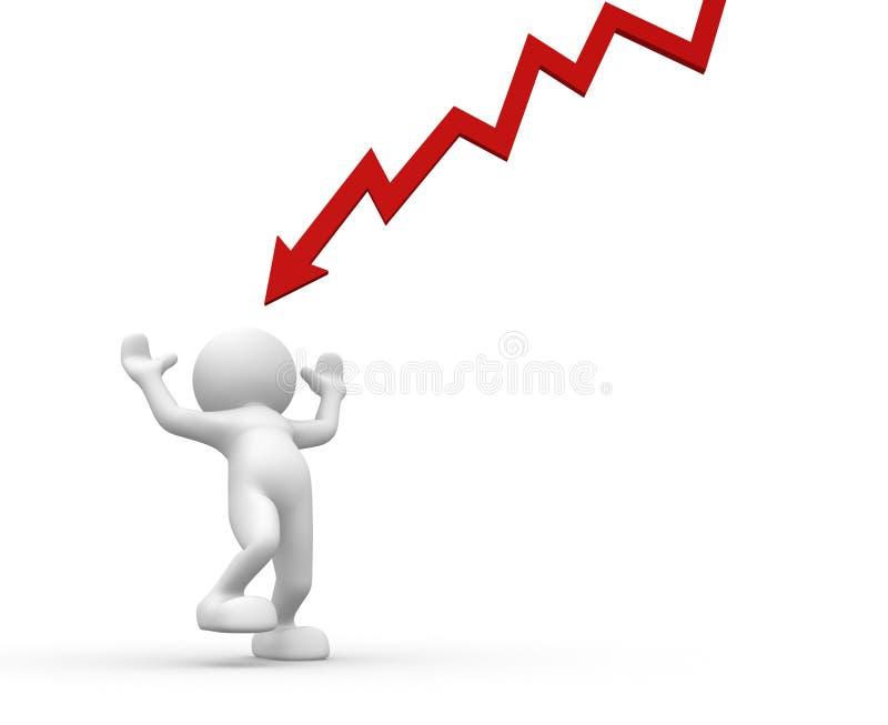 Flecha gráfica stock de ilustración