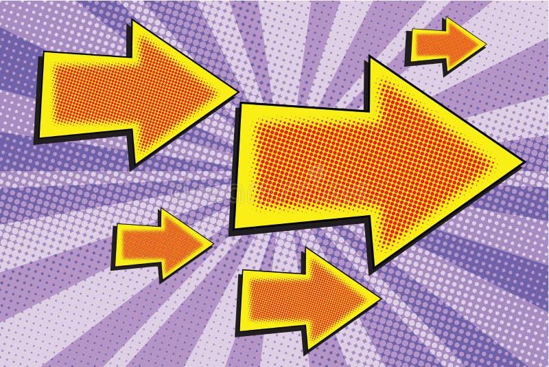 Flecha grande y pequeña ilustración del vector