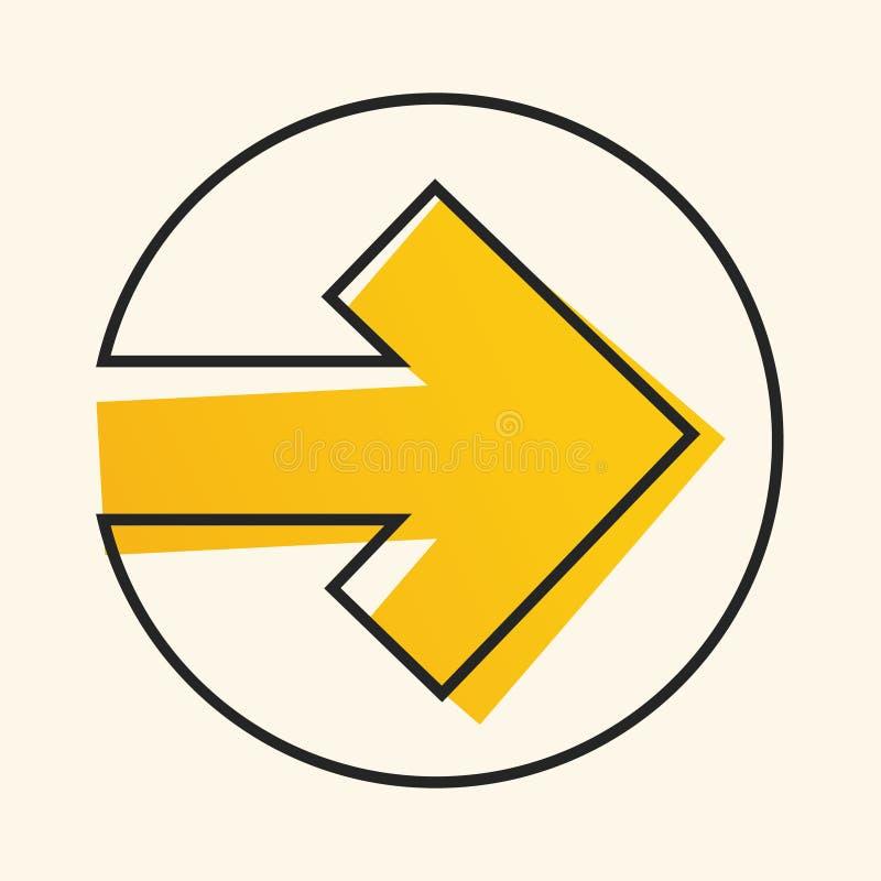 Flecha ilustrada del vector stock de ilustración