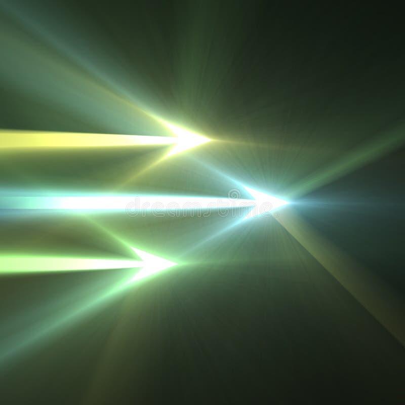 Flecha ligera foto de archivo