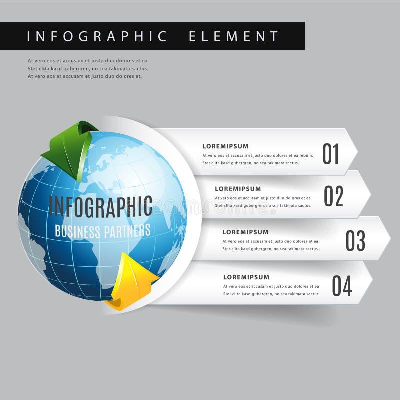 Flecha moderna del mundo infographic ilustración del vector