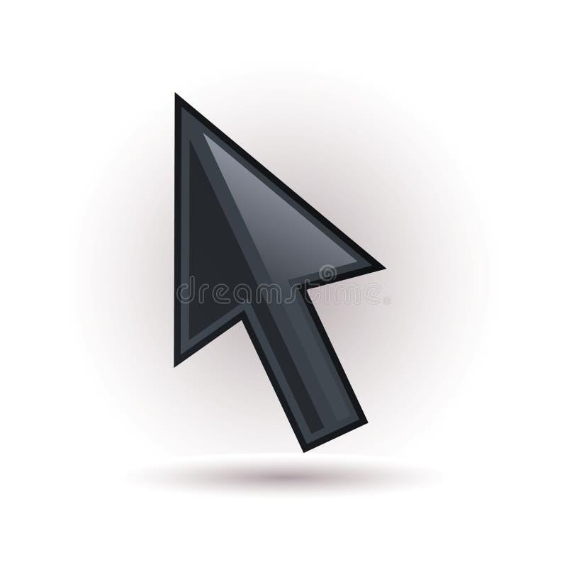 Flecha negra stock de ilustración