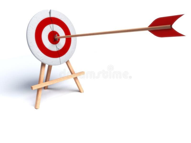 Flecha que golpea directamente en ojo de toros libre illustration