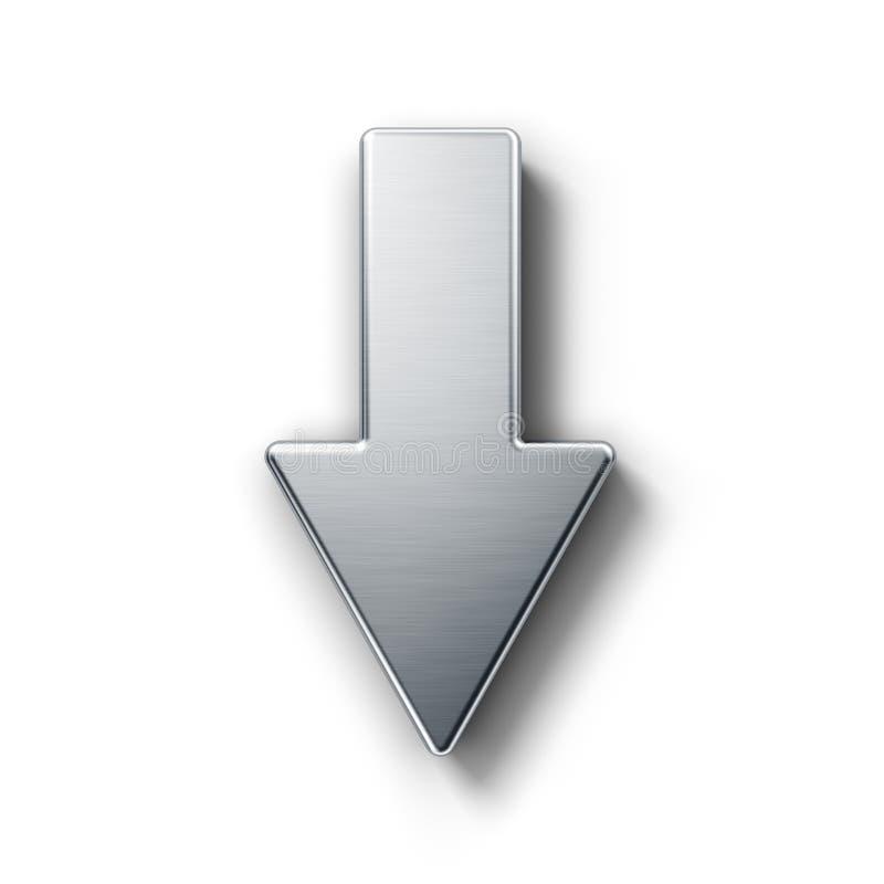 Flecha que señala abajo ilustración del vector